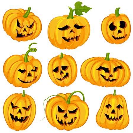 Halloween-Kürbisse Standard-Bild - 32318116