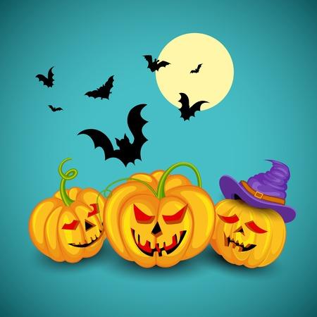 jack o   lantern: Jack o lantern pumpkins for Halloween night