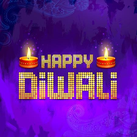 Happy Diwali Diya Vector