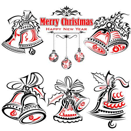 campanas de navidad: Estilo del tatuaje de Navidad Jingle Bells