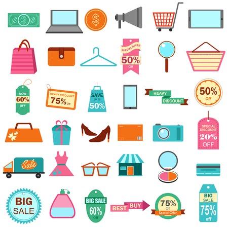 Fashion and Sale Icon Vector