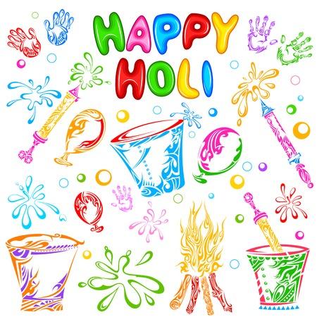 vector illustration of object for Holi festival Vector