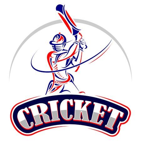 バットで演奏クリケット選手