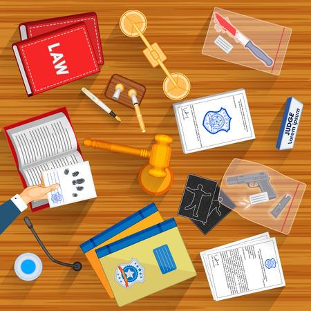 judicial system: Mesa de trabajo de la jueza