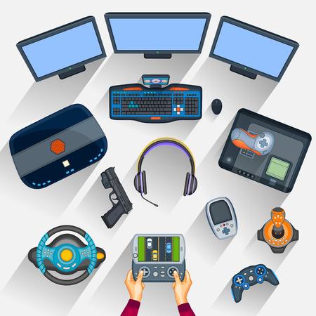 gamer: Working table of gamer