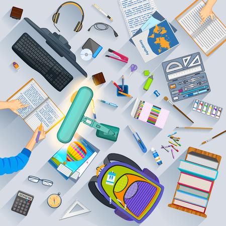 mochila escolar: cWorking mesa de estudiante