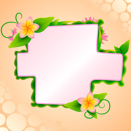 blank space: Floral background with blank space