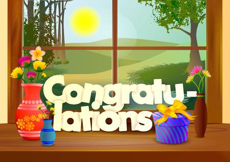 felicitaciones: Fondo Felicidades wallpaper Vectores