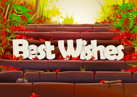 Best Wishes wallpaper background Illustration