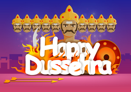 Happy Dussehra wallpaper background Vector