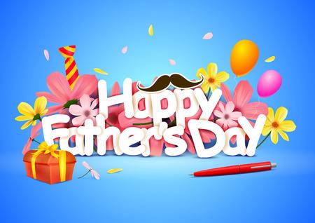 Gelukkig Fathers Day wallpaper achtergrond Stockfoto - 40961809