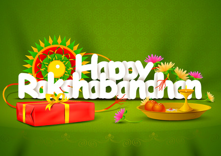 Happy Rakshabandhan wallpaper background Illustration