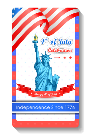 4th of July wallpaper background Vector