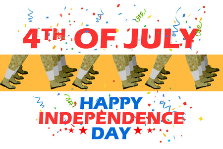 national freedom day: 4th of July Parade Illustration