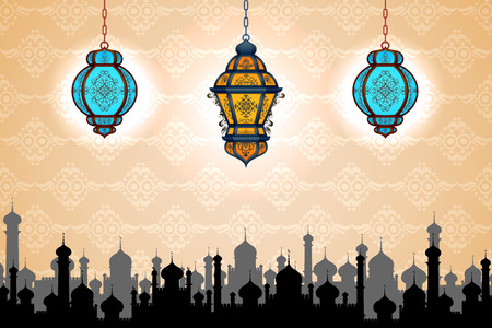 vector illustration of lamp on Eid ul Adha (Festival of the sacrifice) Illustration
