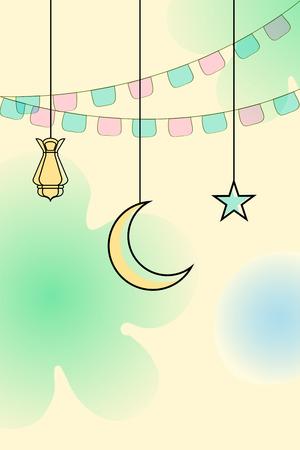ramzan: vector illustration of illuminated lamp for Ramadan Kareem ( Greetings for Ramadan) background