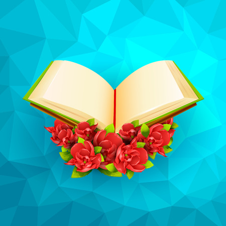 quran: vector illustration of Quran on Ramadan Kareem (Happy Ramadan) background Illustration