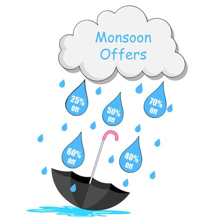 monsoon clouds: illustration of Monsoon sale offer Illustration