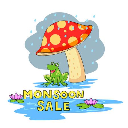 rainwater: illustration of Monsoon sale offer Illustration