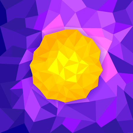 illustration of colorful abstract polygon background Illustration