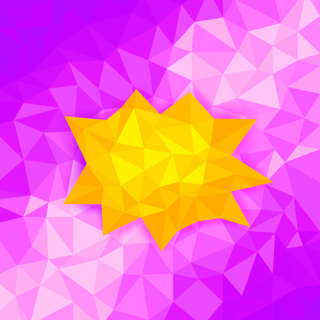 trigonal: illustration of colorful abstract polygon background Illustration