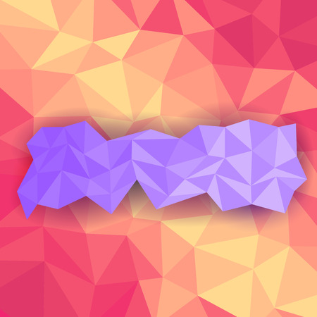 crystallization: illustration of colorful abstract polygon background Illustration