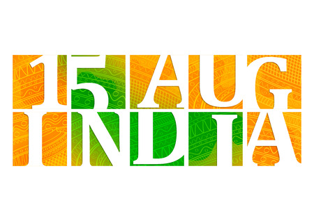 independence day: illustration of Indian Independence Day background Illustration