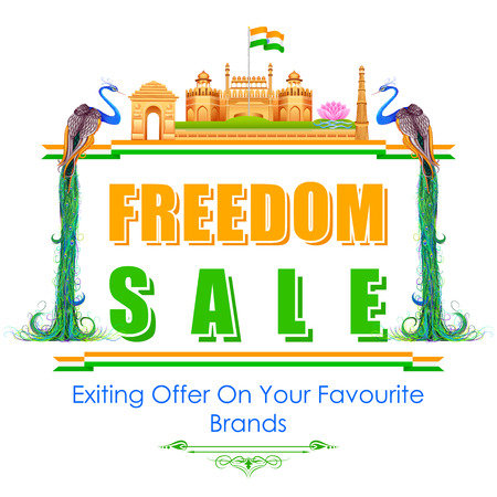 qutub minar: illustration of Freedom Sale of India