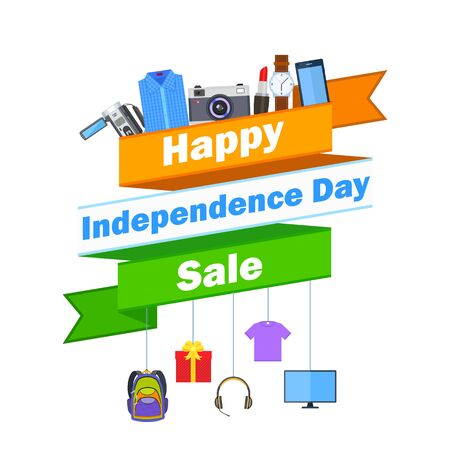independence: illustration of promotional and advertisement for Independence Day of India