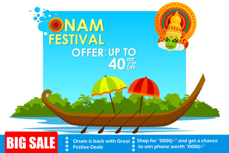 onam: vector illustration of Happy Onam big sale Illustration