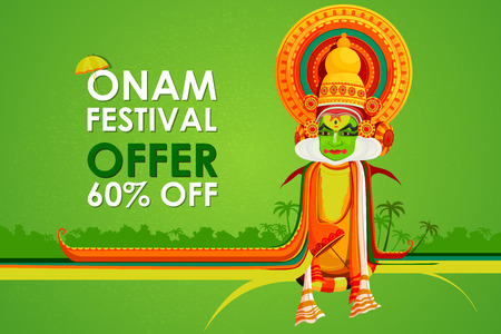 onam: vector illustration of Happy Onam big sale Illustration
