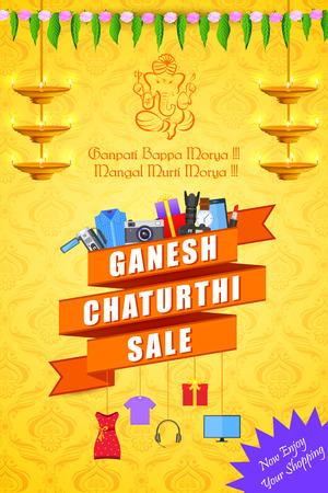 ganesh: ilustración vectorial de feliz Ganesh Chaturthi oferta Venta