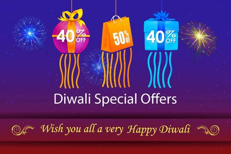 dipawali: illustration of Happy Diwali holiday offer