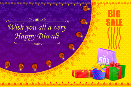 religious: illustration of Happy Diwali holiday offer