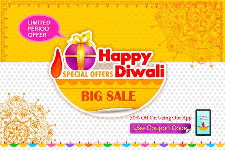 offer: illustration of Happy Diwali holiday offer