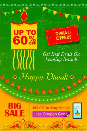 illustration of Happy Diwali holiday offer