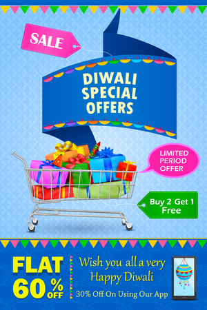dipawali: illustration of Happy Diwali holiday offer