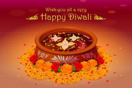 diya: illustration of holy diya for Diwali festival
