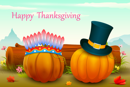 invitation background: vector illustration of Happy Thanksgiving wallpaper background