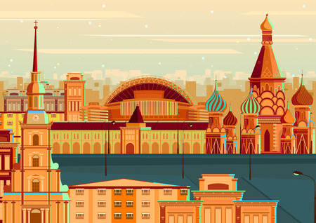 basil's: vector illustration of Saint Basil?s Cathedral of Moscow, Russia