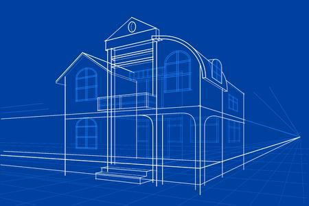 fácil de editar ilustración vectorial de Modelo del edificio