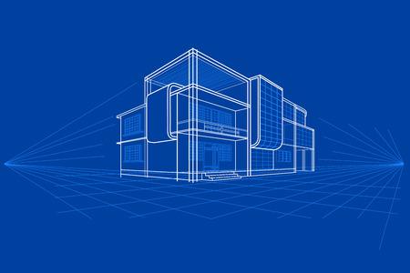 簡単に建物の設計図のベクトル図を編集するには