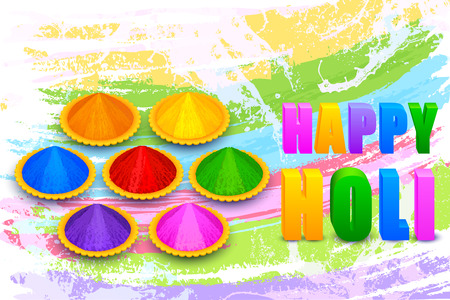 colorful background: illustration of Holi celebration background with colorful gulaal