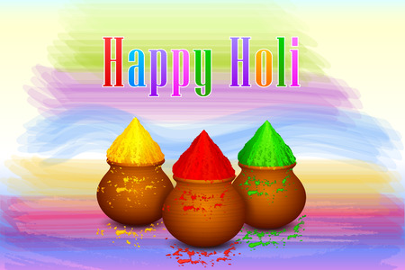 vermilion: illustration of Holi celebration background with colorful gulaal