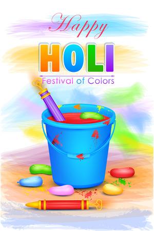 illustration of colorful Holi celebration background Illustration