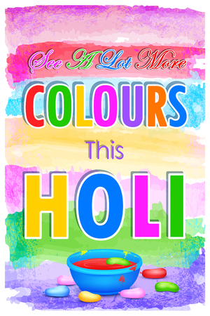 pichkari: illustration of Holi Sale with color and pichkari for promotion poster