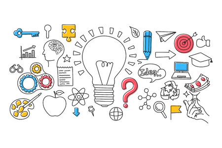 Illustration vectorielle de la conception d'art plat de concept Big Idea pour le modèle de conception Web Banque d'images - 55751736