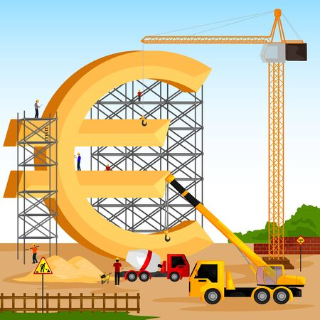 building structure: vector illustration of structure building of Euro Illustration