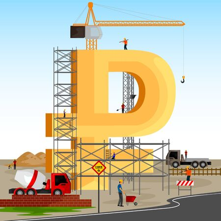 building structure: vector illustration of structure building of Russian Ruble Illustration