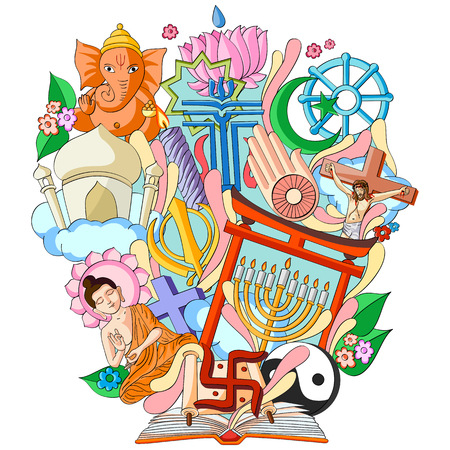 vector illustration of Book of Knowledge for Religion